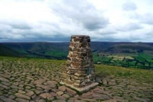 Trig point at Mam Tor